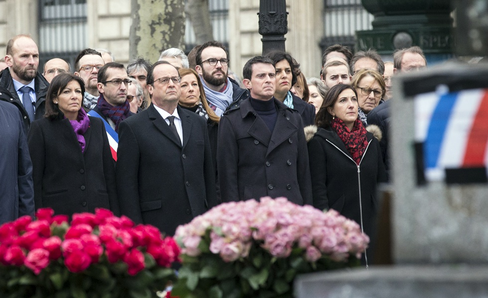 National tribute to terror victims in separate attacks in Paris