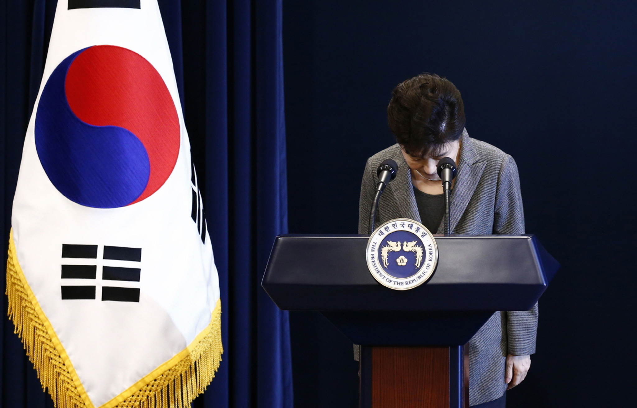 Demand grows in S.Korea for embattled president's impeachment: poll