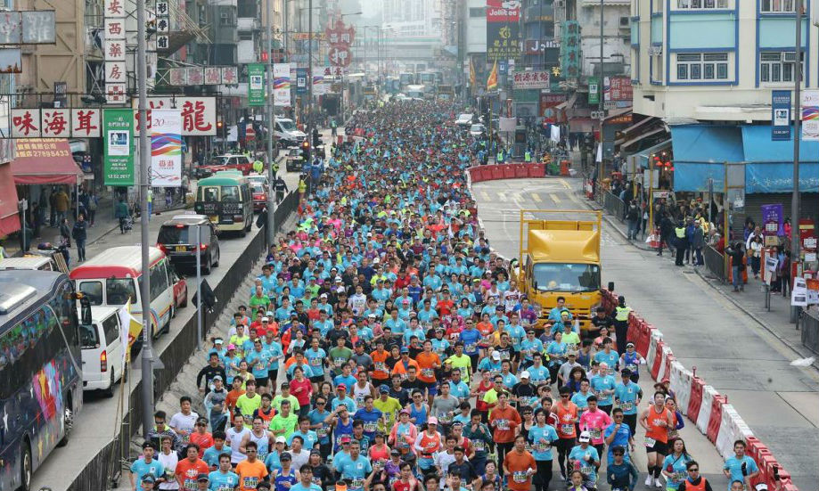 Runner fights for her life after collapsing in Hong Kong Marathon