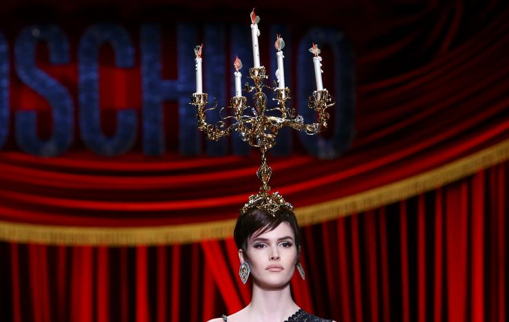 Moschino shows anything can be worn, as long as there is attitude