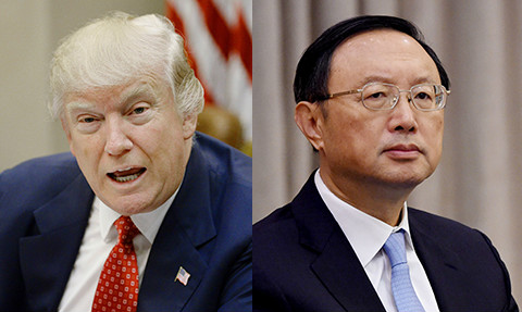 Trump holds first meeting with senior Chinese official