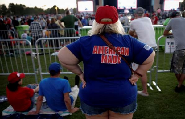 z.jpg Supporters of Republican US presidential candidate Donald Trump attend a campaign rally in Panama City, Florida, on Tuesday. Photo: Reuters