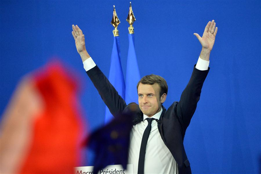 Spotlight: Projections show Macron elected French president