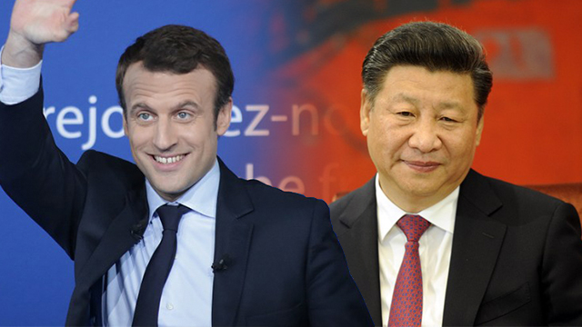 Xi urges closer ties in phone call with French President-elect Macron