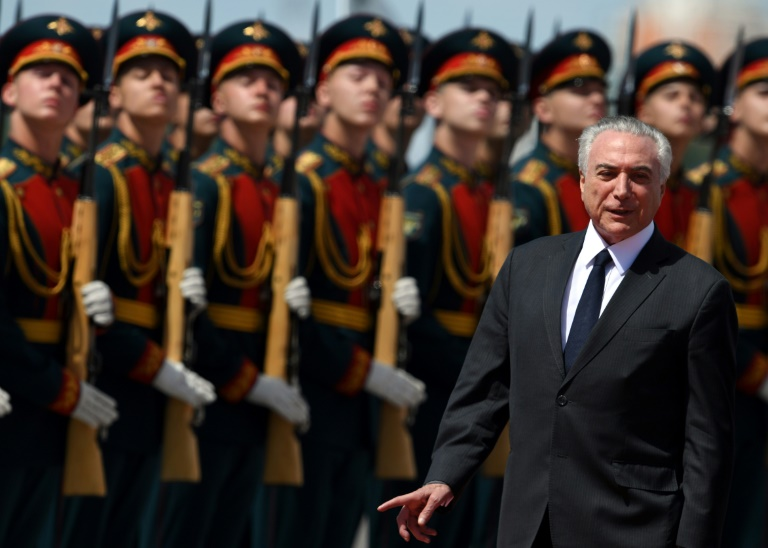 Brazilian police accuse Temer of receiving bribes